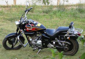 200cc Honda Phantom motorbike parked on grass