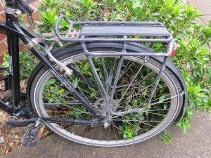Bike with luggage rack